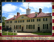 Mount Vernon Framed Prints - George Washingtons Mount Vernon Framed Print by Anthony Jones
