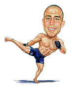 Ufc Paintings - Georges St. Pierre by Art