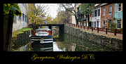 Washington Dc Framed Prints - Georgetown Canal Poster Framed Print by Olivier Le Queinec