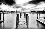 Storm Prints Metal Prints - Georgetown Dock Metal Print by John Rizzuto