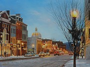 Washington Dc Paintings - Georgetown Holiday by Steve Wilson