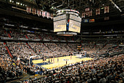 Sports Framed Prints - Georgetown Hoyas Verizon Center Framed Print by Replay Photos