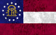 U S Flag Digital Art Posters - Georgia Flag Poster by World Art Prints And Designs