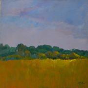 Pasture Painting Posters - Georgia Landscape Poster by Rhonda Brooks