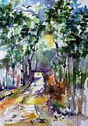 Ginette Fine Art LLC Ginette Callaway - Georgia Winter Pines Watercolor