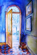 Tiled Painting Posters - Georgian Doorway Ireland Winter   Poster by Trudi Doyle