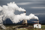 Geothermal Posters - Geothermal Power Station Poster by Dirk Ercken