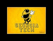 Sec Framed Prints - Geothia Tech Mascot Framed Print by Herb Strobino