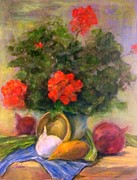 Anne Barberi - Geranium And Vegatable...