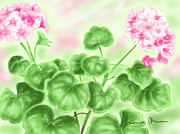 Geraniums Framed Prints - Geraniums Framed Print by Veronica Minozzi