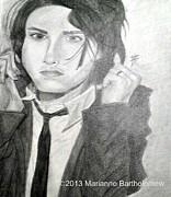 Sketchbook Prints - Gerard Way Print by Marianne Bartholomew
