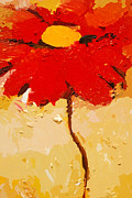 Painted Mixed Media - Gerbera Art by Lutz Baar