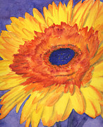 Gerbera Daisy Paintings - Gerbera Sunshine by Erin Rogers Pickering