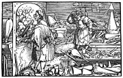 Consolation Metal Prints - German Alchemist, 1537 Metal Print by Granger