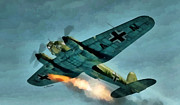 Fighter Aces Acrylic Prints - German Bomber Acrylic Print by A Hermann