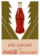 Fizzy Framed Prints - German Coca Cola  Framed Print by Nomad Art And  Design