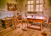 Owfotografik Photo Prints - German Farmhouse Interior Print by Omaste Witkowski
