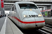 Bahn Prints - German ICE intercity bullet train Munich Germany Print by Imran Ahmed