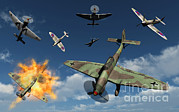Destruction Digital Art - German Ju 87 Stuka Dive Bombers by Mark Stevenson