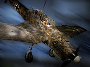 Ww2 Photographs Digital Art - German Luftwaffe WWII Fighter Plane by Thomas Woolworth