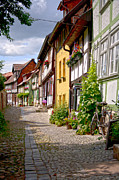German Old Village Quedlinburg Print by Heiko Koehrer-Wagner