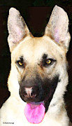 Shepherds Digital Art Posters - German Shepherd - Lover Poster by Sharon Cummings