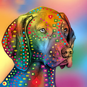 Featured Digital Art - German Shorthair Pointer by Mark Ashkenazi