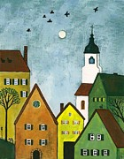 Margaryta Yermolayeva Framed Prints - German Town At Easter Framed Print by Margaryta Yermolayeva