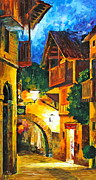 Germany Painting Originals - German Town by Leonid Afremov