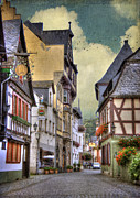 Manipulated Framed Prints - German Village Framed Print by Juli Scalzi