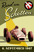 Rally Posters - Germany Grand Prix F1 1967 Poster by Nomad Art And  Design