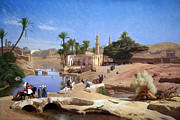 Gerome Photo Prints - Geromes View Of Medinet El Fayoum Print by Cora Wandel