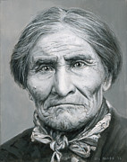Chief Paintings - Geronimo c. 1904 by Stu Braks