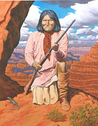 Grand Canyon Drawings - Geronimo by Kevin Breyfogle