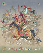 Tibet Mixed Media Prints - Gesar Print by Chris  Banigan