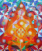 Star Of  David Paintings - Gestation by Anne Cameron Cutri