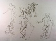 Craig Drawings - Gestures of a Man by Andy Gordon
