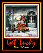 Hot Dogs Art - Get  Lucky  -  New Orleans by Dianne Parks