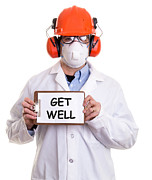 Humorous Greeting Cards Posters - Get Well Poster by Edward Fielding
