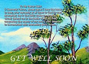 Get Well Soon Prints - Get Well Soon - Patron Saint Prayer Print by Barbara Griffin