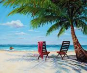 Sunbathing Paintings - Getaway by Mary Giacomini