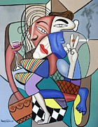 Cubist Framed Prints - Getting In touch With Your Famine Side Framed Print by Anthony Falbo