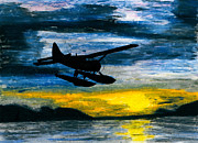 Plane Paintings - Getting Late by R Kyllo