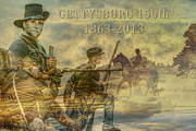Cavalry Digital Art - Gettysburg Anniversary 150 years by Randy Steele