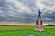 Confederate Monument Posters - Gettysburg Battlefield Soldier Never Rests Poster by Andres Leon