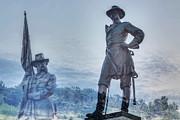 Gettysburg Battlefield Statues Print by Randy Steele