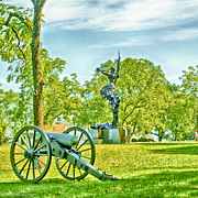 Confederate Monument Prints - Gettysburg Battleground Print by Nadine and Bob Johnston