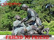 Confederate Monument Prints - Gettysburg - Friend To Friend Print by Susan Carella