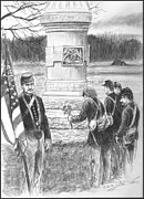 Civil Paintings - Gettysburg Remembrance Day - 63rd PA Volunteers by C Keith Jones