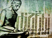 Andrea Kollo Art - Ghandi by Andrea Kollo